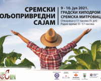 U Sremskoj Mitrovici 09. i 10. jula: Poljoprivredni sajam Agro Sirm 2021.