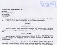 Odluka o dodeli ugovora o stampi jul-decembar 2017