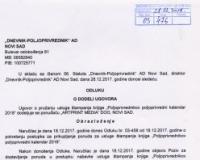 Odluka o dodeli ugovora za stampu PPK 2018
